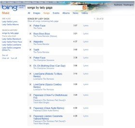 Musica, film, TV e giochi su Bing Entertainment