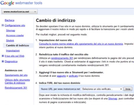Informare Google che il sito ha cambiato dominio