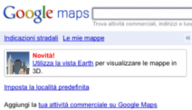 Mappe 3D di Google Earth su Google Maps