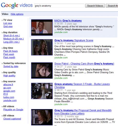 Ricerca video: nuove opzioni su Google Video