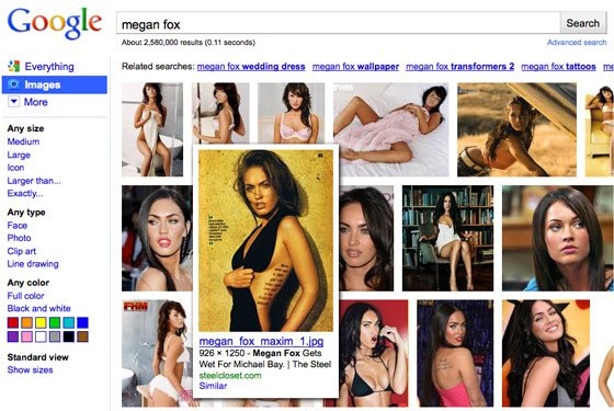 Sulla ricerca immagini di Google arriva lo scrolling infinito