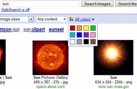 Scegli il colore delle immagini su Google Image Search